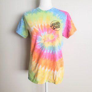Santa Cruz Skateboards Tie Dye Logo Tee Shirt